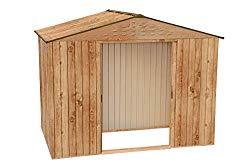 n°1 abri de jardin métal imitation bois
