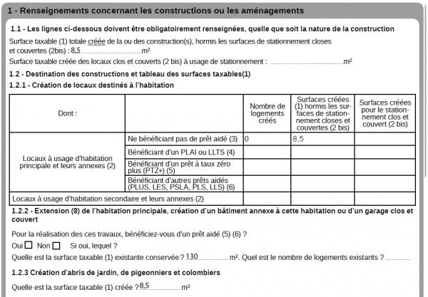 formulaire des taxes à remplir une déclaration préalable de travaux
