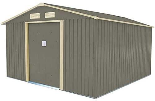 TRIGANO Abri de Jardin Acier 8,99 m2 kit d'ancrage