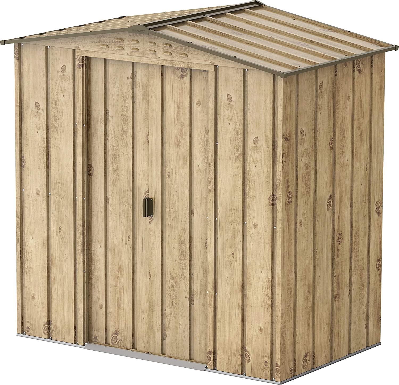 n°3 abri de jardin métal imitation bois
